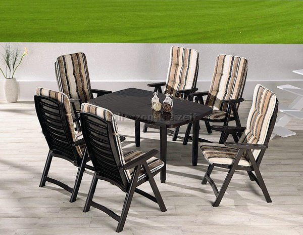 gartenm bel komplett set santiago 9 tlg braun 96291710 ebay. Black Bedroom Furniture Sets. Home Design Ideas