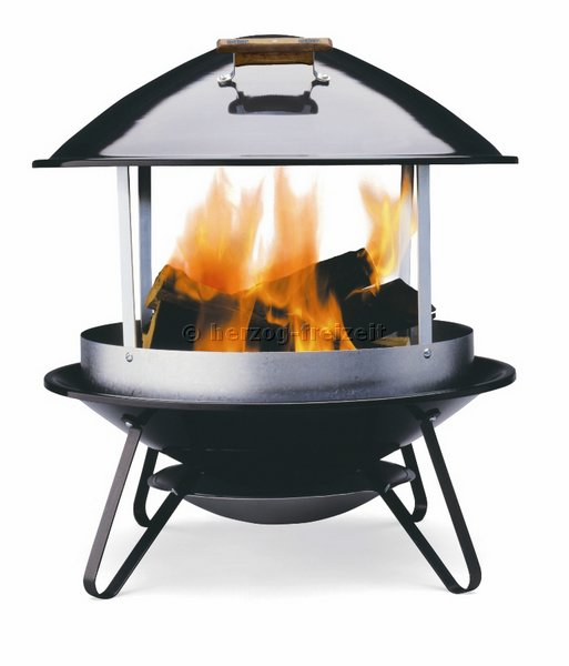 fireplace black das mobile lagerfeuer 2726 weber grill ebay. Black Bedroom Furniture Sets. Home Design Ideas