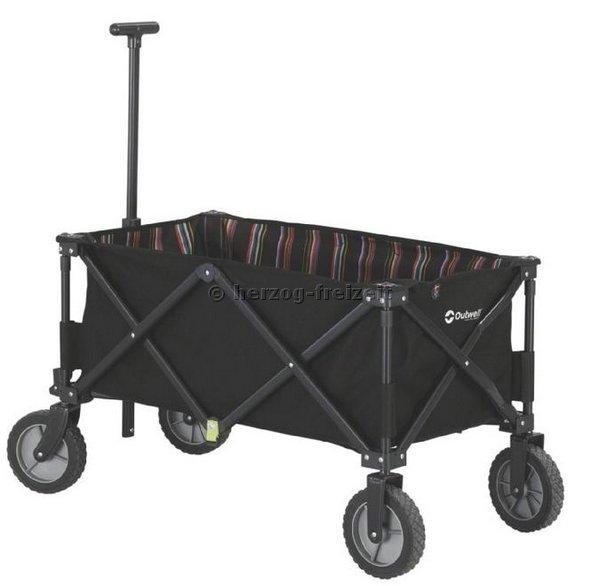faltbarer bollerwagen strandwagen schwarz von outwell ebay. Black Bedroom Furniture Sets. Home Design Ideas
