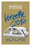 HERZOG Wohnwagen VORZELTE Hauptkatalog 2016