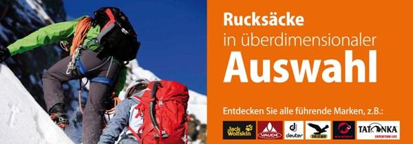 Rucksäcke und Taschen für Wandern, Bergsteigen, Trekking und Camping