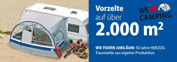 Vorzelte für Wohwagen, Caravan und Reisemobile