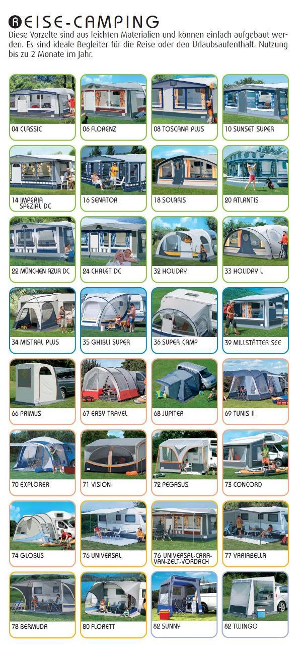 Wohnwagenvorzelte für Reise Camping