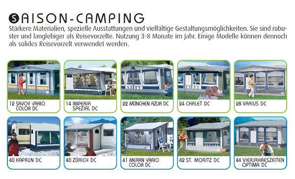 Wohnwagenvorzelte für Saison  Camping